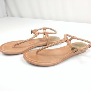 Frye Madison Leather Sandals Braided Straps